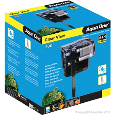 Aqua One Clear View 300 Hang On Filter 300L/Hr