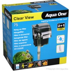Aqua One Clear View 75 Hang On Filter 190L/Hr