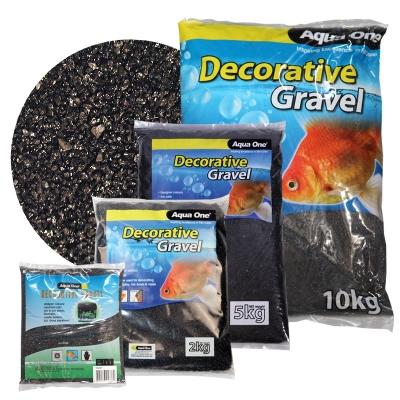 Aqua One Decorative Gravel Black Silica 1kg