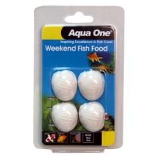 Aqua One Weekend Fish Food Block 20g