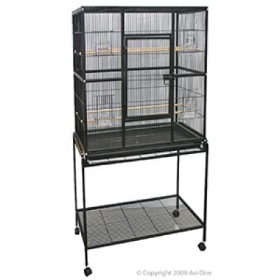 Avi One 604 Square Cage Black 82x46x152cm