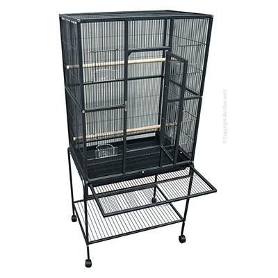 Avi One 604 Square Flight Cage Black 82x52x154cm