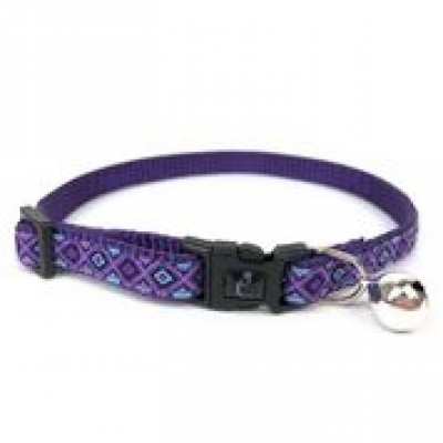 Cattitude Cat Collar Patterned Ribbon Lilac