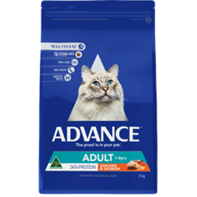 Advance Dry Cat Food Adult Chicken Salmon 6kg