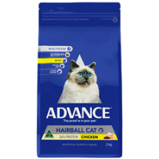 Advance Dry Cat Food Hairball Chicken 2kg