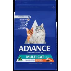 Advance Dry Cat Food Adult Multicat Chicken Salmon 20kg