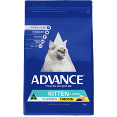 Advance Dry Cat Food Kitten Chicken 3kg