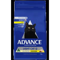 Advance Dry Cat Food Light Chicken 2kg
