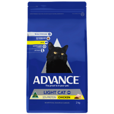 Advance Dry Cat Food Light Chicken 2kg
