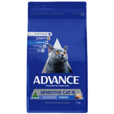 Advance Dry Cat Food Sensitive Turkey 2kg