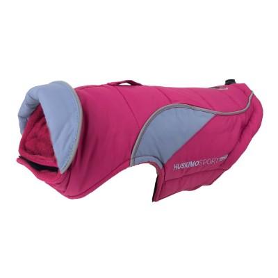 Huskimo Dog Coat Sherpa Odour Free Raspberry 40cm