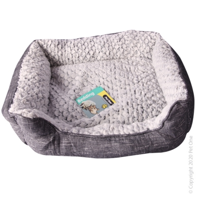 Pet One Bedding Classic Lounger Linen Check Small