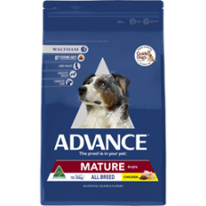 Advance Dry Dog Food Mature All Breed Chicken 15kg
