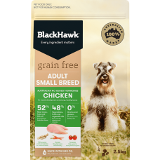 Black Hawk Dry Dog Food Grain Free Small Breed Chicken 7kg