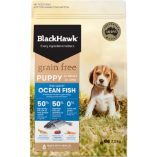Black Hawk Dry Dog Food Puppy Grain Free Ocean Fish 7kg