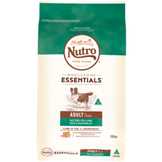 Nutro Wholesome Essentials Adult Dry Dog Food Lamb Rice Vegetable 15kg
