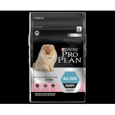 Pro Plan Dry Dog Food Puppy Sensitive Skin Coat All Sizes 2.5kg