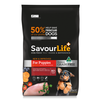 SavourLife Dry Dog Food Grain Free Puppy Chicken 10kg