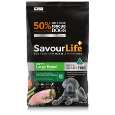 SavourLife Dry Dog Food Grain Free Puppy Large Breed 10kg