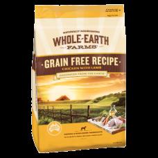 Whole Earth Farms Dry Dog Food Grain Free Chicken Lamb 12kg