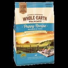 Whole Earth Farms Dry Dog Food Puppy Salmon Tuna 15kg
