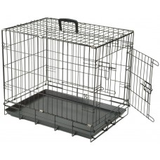 Dog Crate Collapsible Black Medium 36 Inch