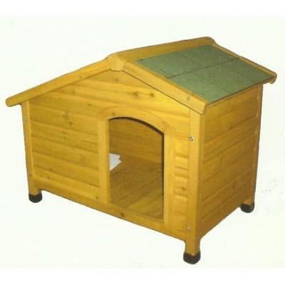 Dog Kennel Wooden Side Entry Peaked Roof Medium