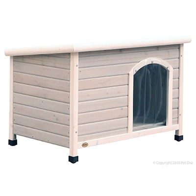 Pet One Bavarian Flat Roof Timber Kennel Small