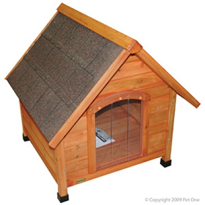 Pet One Timber Chalet Kennel Pitched Roof XL