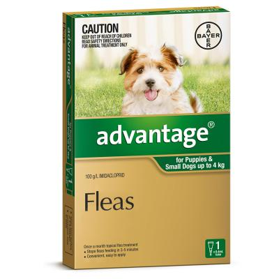 Advantage for Dogs 0-4kg 4pk