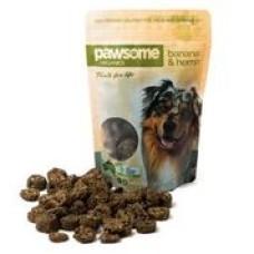 Pawsome Organics Dog Treat Banana Hemp 200g