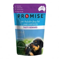 Promise Dog Treats Organic Lamb Liver Bites Tasty Rewards 50g