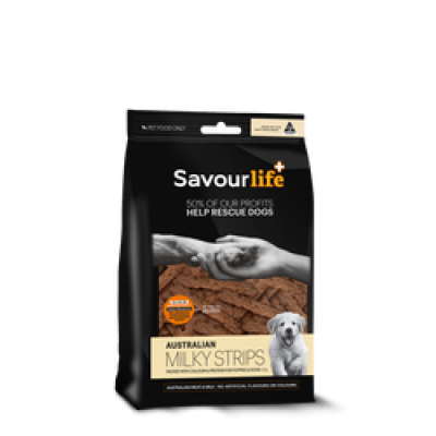 Savourlife Dog Treat Australian Milky Strips 150g