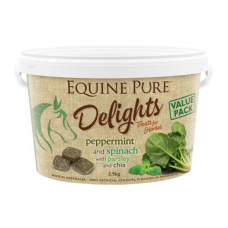 Equine Pure Delights Horse Treat Peppermint Spinach Parsley 2.5kg
