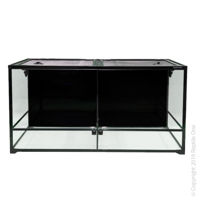 Reptile One RTF 1260HTD Glass Hinged Door Terrarium with Divider