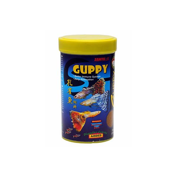 Sanyu guppy pellets micro 50g for Guppy fish food