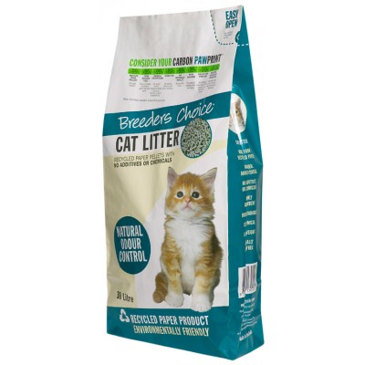 Breeder's Choice Recycled Cat Litter 30L