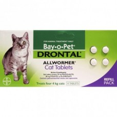 Bay-o-Pet Drontal Cat Allwormer 4pk