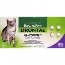 Bay-o-Pet Drontal Cat Allwormer 4pk