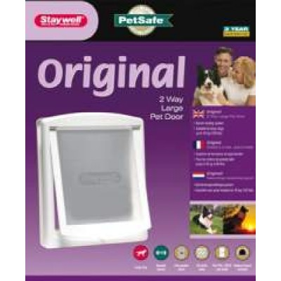 Staywell Original 2 Way Pet Door White Small