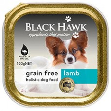 Black Hawk Grain Free Wet Dog Lamb 9x100g