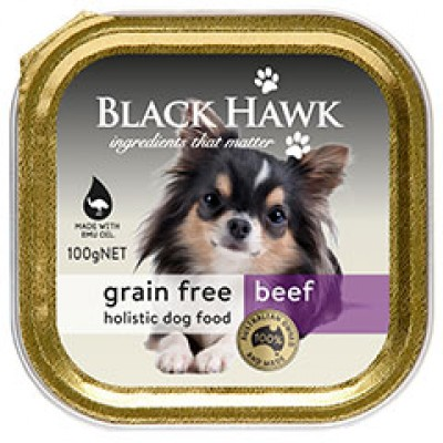 Black Hawk Grain Free Wet Dog Beef 9x100g
