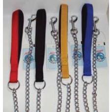 Dog Lead Chain Padded Handle 3.5mm x 120cm
