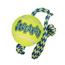Kong Airdog Squeaker Ball with Rope Medium