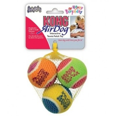 Kong Airdog Squeaker Birthday Balls 3pk