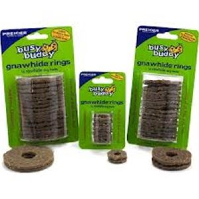 Busy Buddy Gnawhide Rings Refill Small