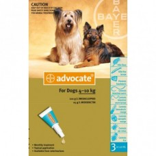 Advocate for Dogs 4-10kg 3pk