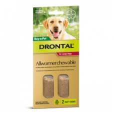 Drontal Allwormer Chews For Dogs 10-35kg 2pk
