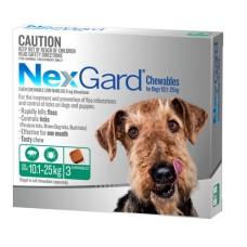 Nexgard Flea Tick Treatment For Dogs 10.1-25kg 3pk