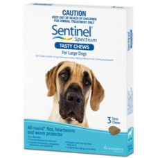 Sentinel Chews for Dogs 22-45kg 3pk